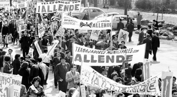 Demonstration für Salvador Allende. Foto: Library of Congress Prints and Photographs Division Washington